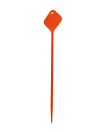 Plaatetiket recht flexo 72 cm oranje (fluor.)