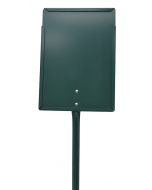 Etikethouder A4 / staand-dicht / stok 76 cm groen