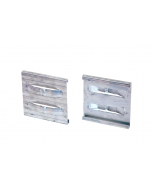 Aluminium extra eindverbindingsclip zilver 10,2 cm
