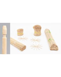 Bambini bamboe etiketsteker 10 cm naturel