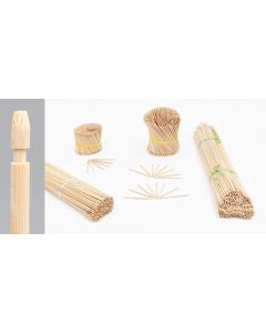 Bambini bamboe etiketsteker 12 cm naturel