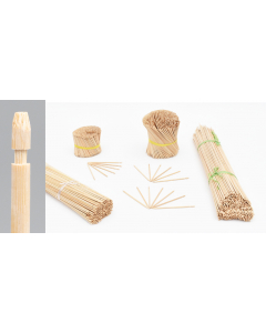 Bambini bamboe etiketsteker 16 cm naturel