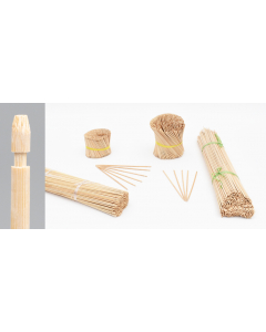Bambini bamboe etiketsteker 27 cm naturel