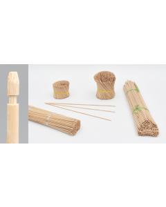 Bambini bamboe etiketsteker 55 cm naturel