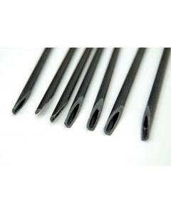 Fiberstick hol 30 cm Ø 4,5 mm zwart