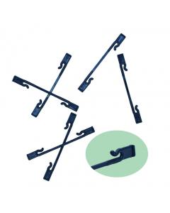 Mini-clip 2,5 & 3 mm / 8,5 cm zwart