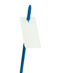 T.T. cross label zonder stormgat 11 x 5 cm wit