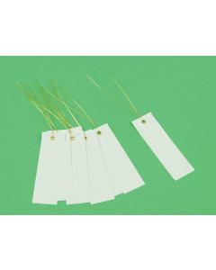 Bundellabel PVC 10 x 3 cm met draad wit