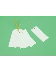 Bundellabel PVC 12 x 5 cm met draad wit
