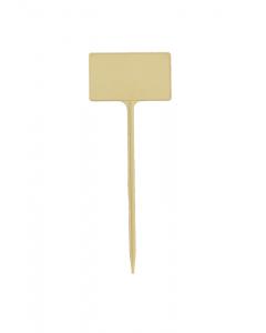Plaatetiket recht S-13,5 / 5 x 3 cm ivoor