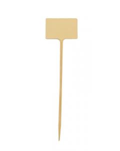 Plaatetiket recht S-34 / 9 x 6 cm ivoor