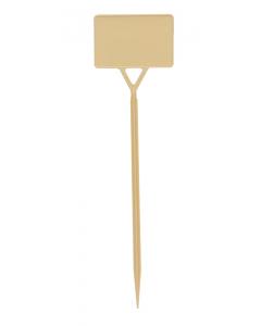 Plaatetiket recht S-45 / 12 x 8 cm ivoor