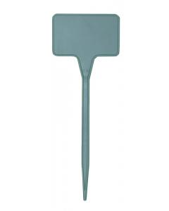 Plaatetiket recht T-15 / 5,5 x 3,5 cm grijs