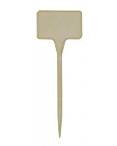 Plaatetiket recht T-15 / 5,5 x 3,5 cm beige