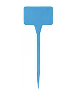 Plaatetiket recht T-15 / 5,5 x 3,5 cm blauw