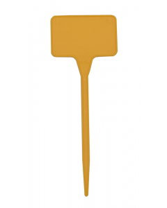 Plaatetiket recht C-15 / 5,5 x 3,5 cm geel