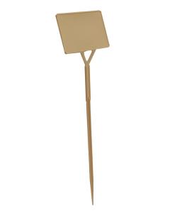 Plaatetiket schuin S-45 / 14 x 9 cm ivoor