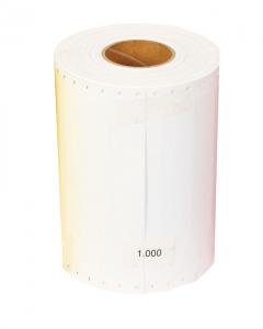 Comp. steeketiket PVC 16 x 1,27 cm wit