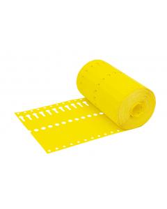 Sleufetiket Tyvek 105 g / 14 x 1,27 cm geel