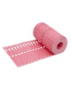 Sleufetiket Tyvek 105 g / 14 x 1,27 cm roze