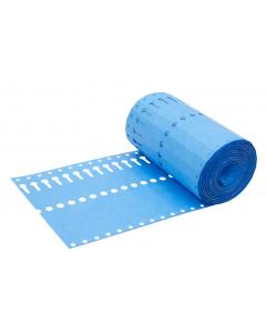 Sleufetiket Tyvek 105 g / 14 x 1,27 cm blauw