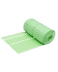 Sleufetiket Tyvek 105 g / 14 x 1,27 cm groen