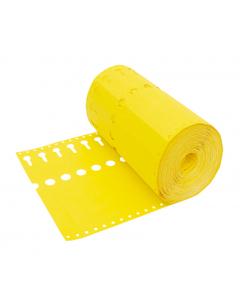 Sleufetiket Tyvek 105 g / 22 x 2,55 cm geel
