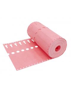 Sleufetiket Tyvek 105 g / 22 x 2,55 cm roze