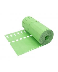 Sleufetiket Tyvek 105 g / 22 x 2,55 cm groen