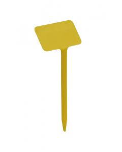 Plaatetiket schuin T-19 / 8 x 5 cm geel
