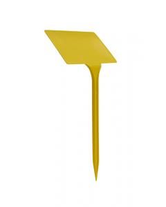 Plaatetiket schuin T-27 / 13 x 8 cm geel