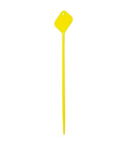 Plaatetiket recht flexo 72 cm geel