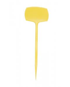 Plaatetiket recht M-30 / 10 x 7 cm geel