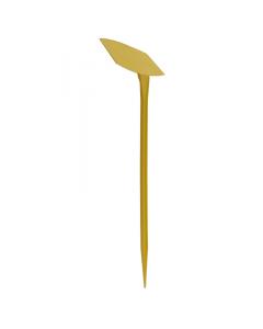 Plaatetiket schuin M-51 / 16 x 10 cm geel
