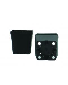 Vierkante pot 8 x 8 x 8 cm zwart