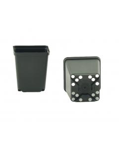 Vierkante pot 0,27 l / 7 x 7 x 8 cm zwart