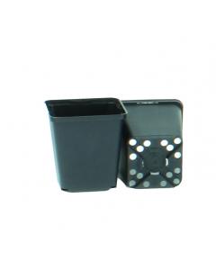 Vierkante pot 0,46 l / 9 x 9 x 9,5 cm zwart