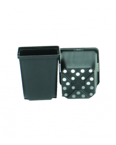 Vierkante pot 1,06 l / 11 x 11 x 12 cm zwart