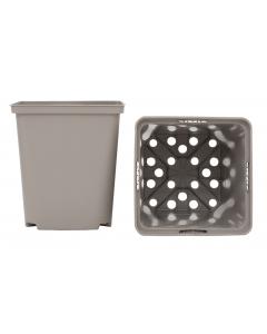 Vierkante pot 1,06 l / 11 x 11 x 12 cm taupe