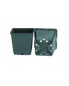 Vierkante pot 1,5 l / 13 x 13 x 13 cm zwart