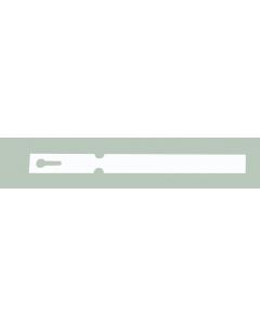 Laser sleufetiket 175 µ / 21 x 1,91 cm / 16-vel