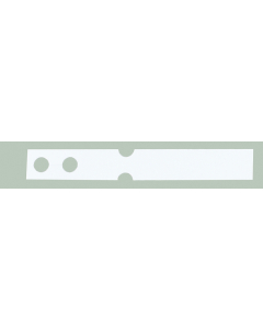 Laser sleufetiket 175 µ / 25 x 3,5 cm / 6-vel