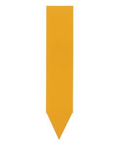 Steeketiket PVC 6 x 1,2 cm oranje