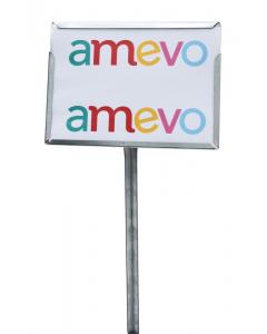 Etikethouder A4 / liggend-dicht / stok 46 cm