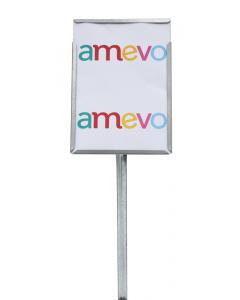 Etikethouder A4 / staand-dicht / stok 46 cm