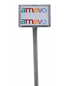 Etikethouder A6 / liggend-open / stok 46 cm