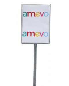 Etikethouder A4 / staand-open / stok 46 cm