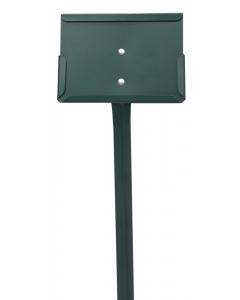 Etikethouder A6 / liggend-dicht / stok 46 cm groen