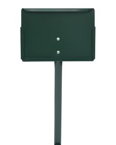 Etikethouder A5 / liggend-dicht / stok 46 cm groen