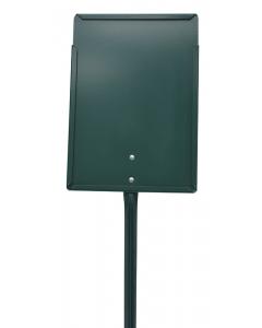 Etikethouder A4 / staand-dicht / stok 46 cm groen